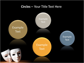 Thater Mask PowerPoint Template - Slide 57