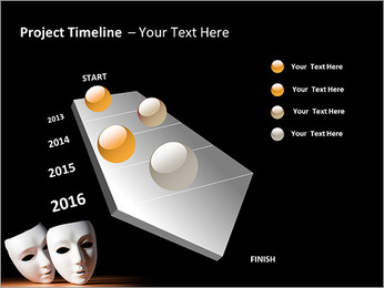 Thater Mask PowerPoint Template - Slide 6