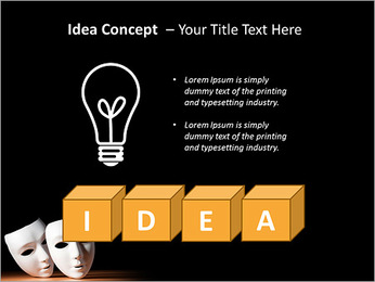 Thater Mask PowerPoint Template - Slide 60