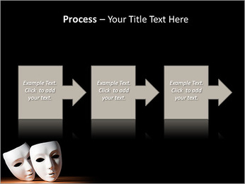 Thater Mask PowerPoint Template - Slide 68