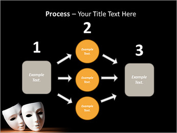 Thater Mask PowerPoint Template - Slide 72