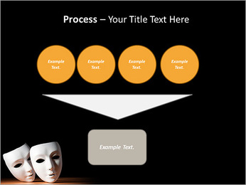 Thater Mask PowerPoint Template - Slide 73