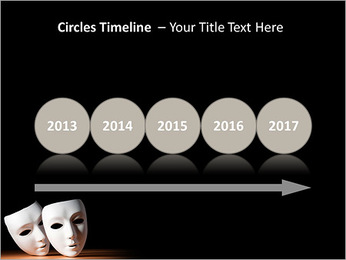 Thater Mask PowerPoint Template - Slide 9
