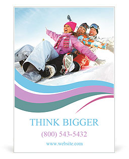 Winter Sled Ad Templates