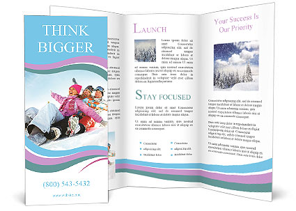 Winter Sled Brochure Template