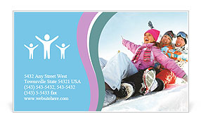 Winter Sled Business Card Template
