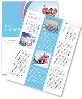 Winter Sled Newsletter Template