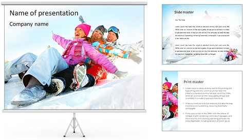 Winter Sled PowerPoint Template