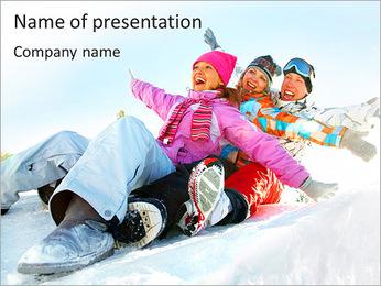 Winter Sled PowerPoint Templates - Slide 1