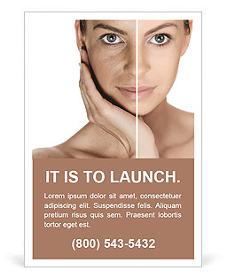 Tanned Face Ad Template