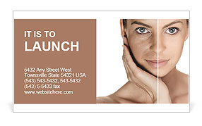 Tanned Face Business Card Templates