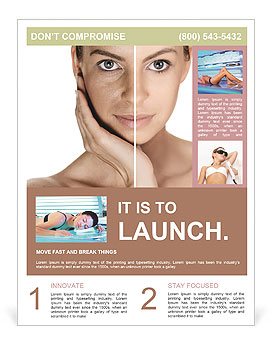 Tanned Face Flyer Template