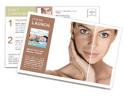 Tanned Face Postcard Template