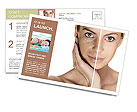 Tanned Face Postcard Templates