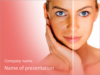 Tanned Face PowerPoint Templates - Slide 1