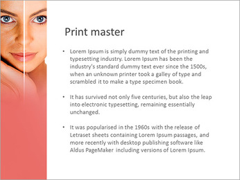 Tanned Face PowerPoint Templates - Slide 76
