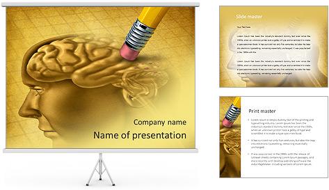 Draw Human Brain PowerPoint Template