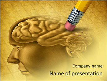 Draw Human Brain PowerPoint Template