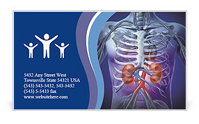 Kidney Function Business Card Template