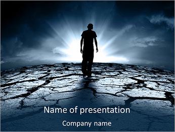 Dry Soil PowerPoint Template - Slide 1