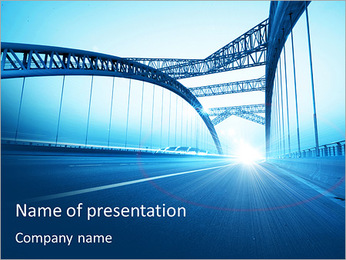Bridge PowerPoint Template - Slide 1