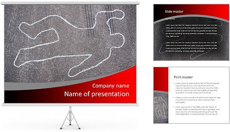 Murder Victim PowerPoint Template