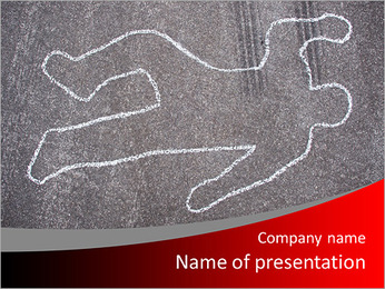 Murder Victim PowerPoint Template
