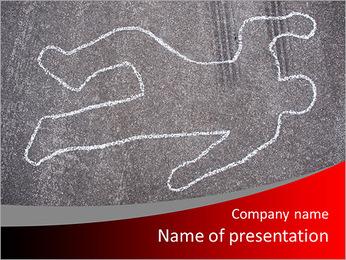 Murder Victim PowerPoint Template - Slide 1