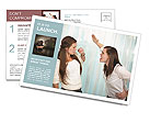 Sister Quarrel Postcard Template