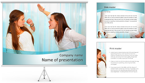 Sister Quarrel PowerPoint Template
