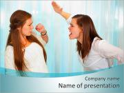Sister Quarrel PowerPoint Templates