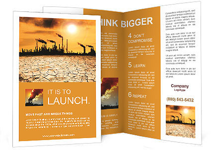 Pollution Issue Brochure Template