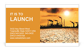 Pollution Issue Business Card Template