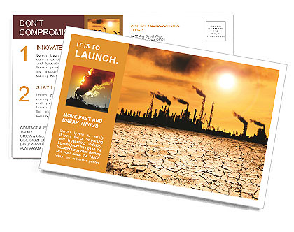 Pollution Issue Postcard Template