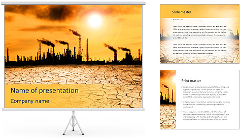 Pollution Issue PowerPoint Template