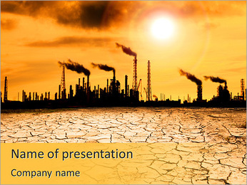 Pollution Issue PowerPoint Template - Slide 1