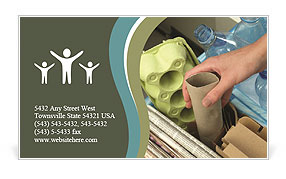 Collect Garbage Business Card Template
