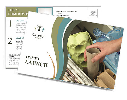 Collect Garbage Postcard Template