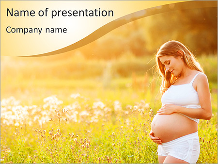 Pregnancy Moment PowerPoint Templates