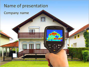 Real Estate Device PowerPoint Template - Slide 1