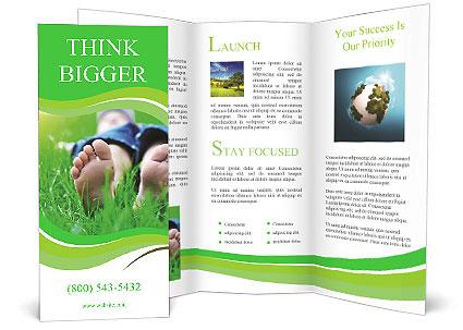 Lie On Grass Brochure Template