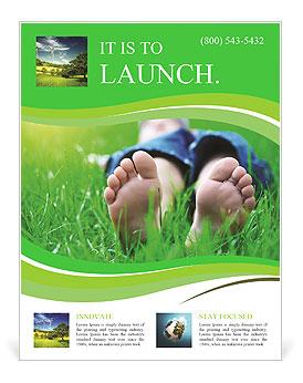 Lie On Grass Flyer Template