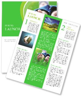 Lie On Grass Newsletter Template