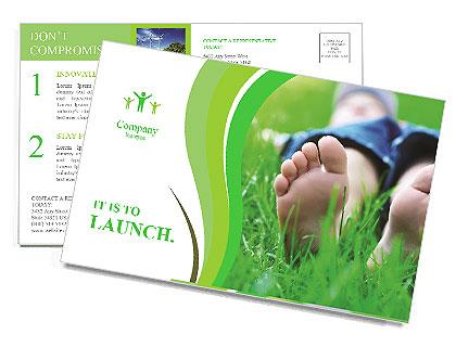 Lie On Grass Postcard Template
