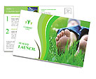 Lie On Grass Postcard Template