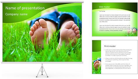 Lie On Grass PowerPoint Template