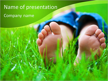 Lie On Grass PowerPoint Template