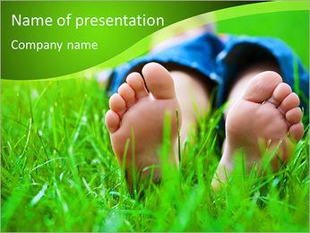 Lie On Grass PowerPoint Template - Slide 1