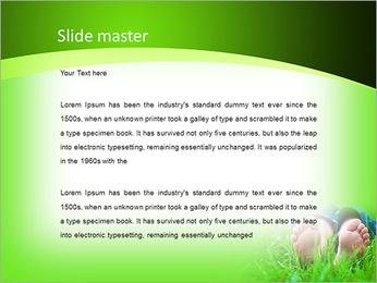 Lie On Grass PowerPoint Template - Slide 2