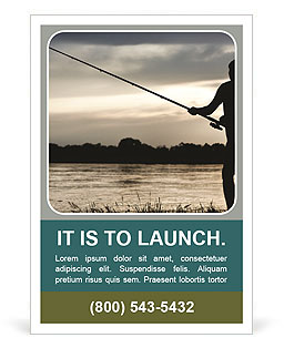 Fishing At Sunset Ad Templates